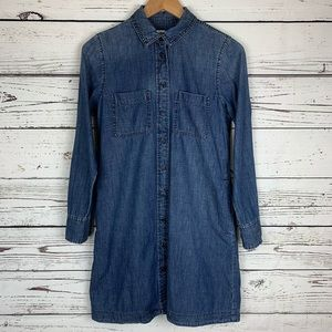 Madewell Denim Chambray Button Down Shirt Dress